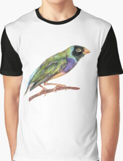 Hand drawn gouldian finch bird Graphic T-Shirt