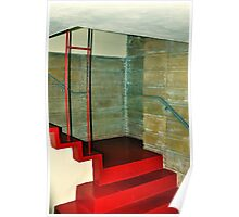 Frank Lloyd Wright Designed Stairway, Florida Southern College, Lakeland, Florida Poster