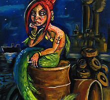 Jersey Shore Mermaid by rawjawbone