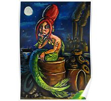 Jersey Shore Mermaid Poster