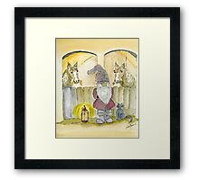 Christmas Night in the Stable Framed Print