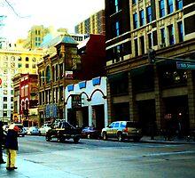 City Bustle at Dusk #1 by Jake Kauffman