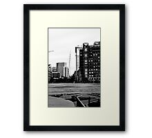 B&W From Park to LoDo Framed Print