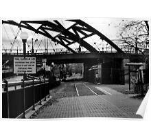 B&W Bridge and Train Poster