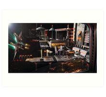 Space Station Landing Bay Art Print