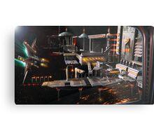 Space Station Landing Bay Metal Print