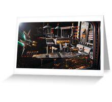Space Station Landing Bay Greeting Card