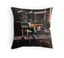 Space Station Landing Bay Throw Pillow