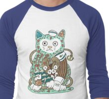 The Ships Cat Men's Baseball ¾ T-Shirt