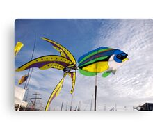 Colourful fish windmill, Brest Maritime Festival 2008 , Brittany, France Canvas Print
