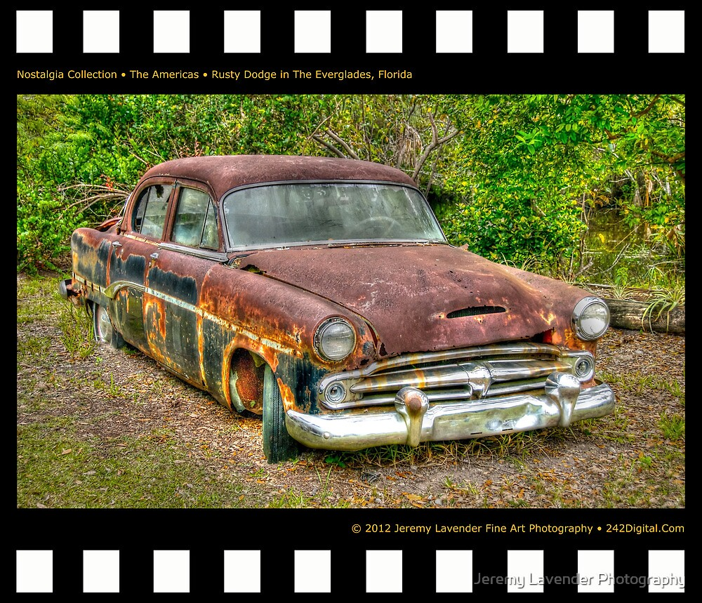 Nostalgia Collection • The Americas • Rusty Dodge in The Everglades, Florida  by Jeremy Lavender Photography