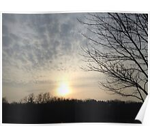 Late afternoon sunset Poster