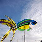 Colourful fish windmill, Brest Maritime Festival, Brittany, France by silverportpics