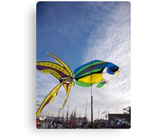 Colourful fish windmill, Brest Maritime Festival, Brittany, France Canvas Print