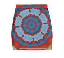 Primary Colours Parasol Kaleidoscope Mandala Mini Skirt