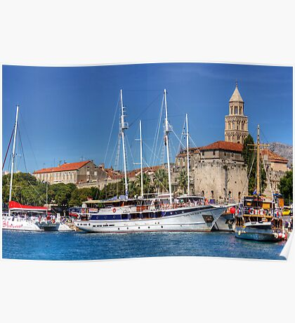 The Harbour at Split Poster
