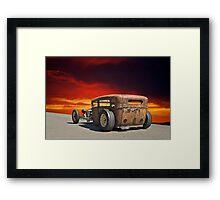 King Rat Rod lV Framed Print