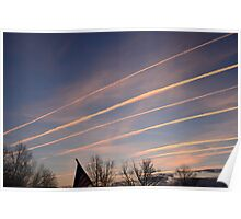 Lines In The Sky v.2 Poster