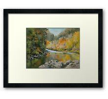 Umpqua Autumn Framed Print