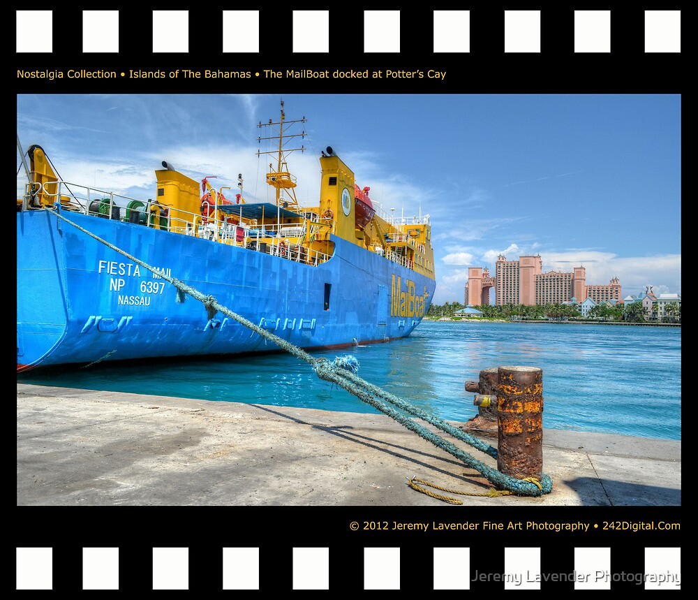 Nostalgia Collection • Islands of The Bahamas • MailBoat Ferry docked at Potter's Cay by Jeremy Lavender Photography