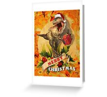 Merry Jurassic Christmas 3 Greeting Card