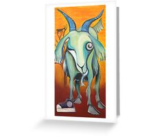 Crazy Goat Greeting Card