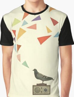 Pigeon Radio Graphic T-Shirt