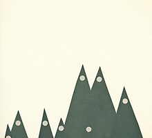 Moonlit Peaks by Cassia Beck