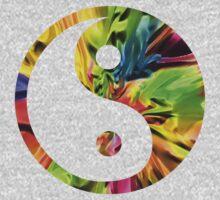 Rainbow Yin and Yang One Piece - Long Sleeve