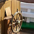 Traditional wooden ships wheel, Brest Maritime Festival 2008 , France by silverportpics