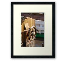 Traditional wooden ships wheel, Brest Maritime Festival 2008 , France Framed Print