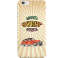 Retro Vintage Style : Car Sweet Car iPhone Case/Skin