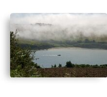 Sea fog on the Erme Estuary, South Hams, Devon, UK Canvas Print