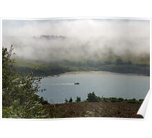 Sea fog on the Erme Estuary, South Hams, Devon, UK Poster