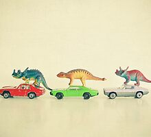 Dinosaurs Ride Cars by Cassia Beck
