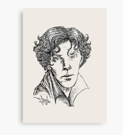 Portrait of a Consulting Detective Canvas Print