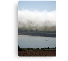 Sea fog on the Erme Estuary, South Hams, Devon, England, UK Canvas Print