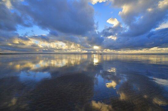 Devon: Evening Reflections at Saunton Sands by Rob Parsons