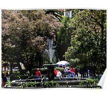 Parque Abdon Calderon in Cuenca, Ecuador Poster