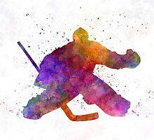 Hockey porter in watercolor by paulrommer