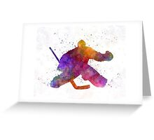 Hockey porter in watercolor Greeting Card