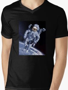 Space Sloth Mens V-Neck T-Shirt