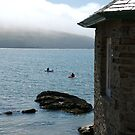 Cottage and sea fog, Mothecombe, South Hams, Devon, England, UK by silverportpics