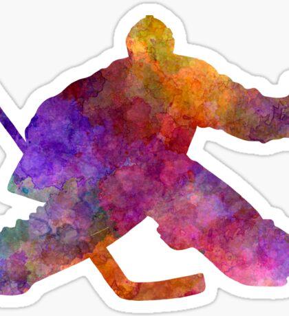 Hockey porter in watercolor Sticker