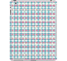 Blue and pink unique plaid iPad Case/Skin
