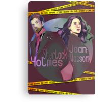 Joan and Sherlock Metal Print