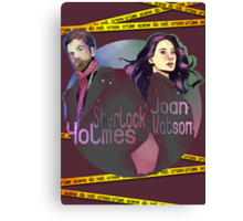 Joan and Sherlock Canvas Print
