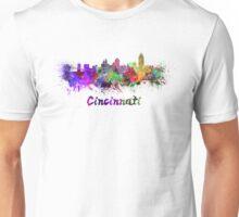 Cincinnati skyline in watercolor Unisex T-Shirt