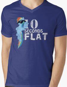 10 Seconds Flat Mens V-Neck T-Shirt