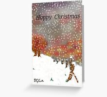 Hand designed signed Christmas card Greeting Card